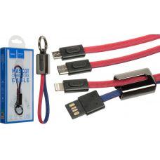 "USB Кабель HOCO U36 ""Mascot"" microUSB (0.2М)"