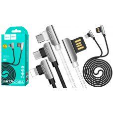 "USB Кабель HOCO U42 ""Exquisite steel"" lightning (1.2М)"