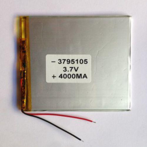 Литий-ионовый полимерный аккумулятор 3795105 3.7V 4000 mah