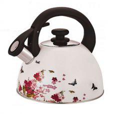Чайник металлический со свистком 2,5 л MH-3526