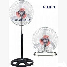 Напольный вентилятор Domotec FS-4521 два в одном