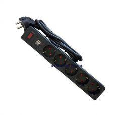 Сетевой фильтр, удлинитель на 5 розеток и 2 USB 3m