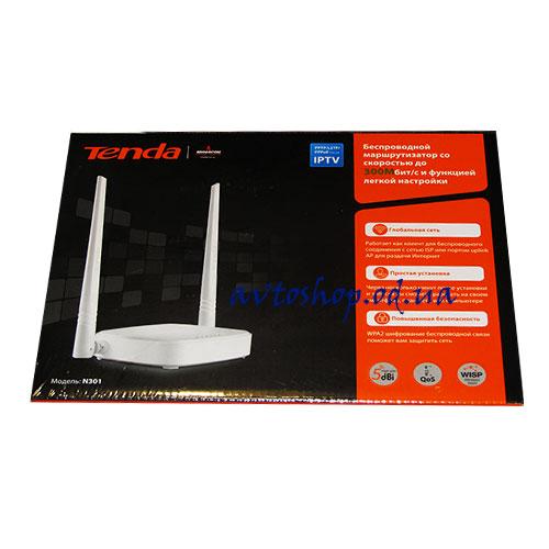 Wi-Fi роутер Tenda N301 300Мбит