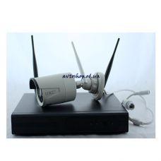 Беспроводный комплект видеонаблюдения на 4 камеры 8004 kit Wi-Fi