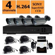 Комплект видеонаблюдения DVR KD-6604kit 4 камеры