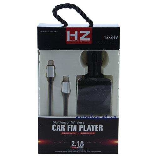 Fm модулятор H22 с зарядкой для Iphone и Android
