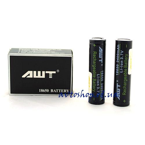 Аккумуляторы AWT 18650  3400mAh  высокотоковые