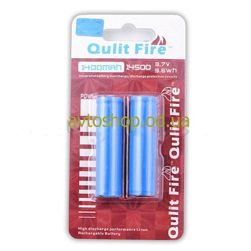 Аккумулятор Qulit Fire 14500-1400mAh с защитой