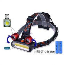 Налобный фонарь POLICE JR 2200 COB+2LTS