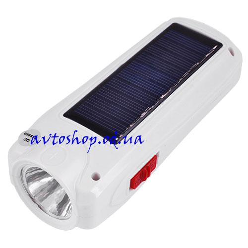 Фонарь Yajia 1027 T + солнечная батарея