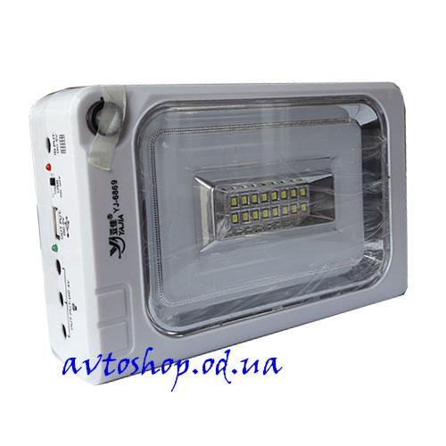 Фонарь 6869, 16SMD+30SMD, USB