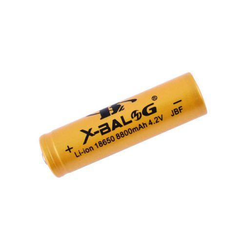 Аккумулятор 18650, X-Balog, 8800mAh, золотой