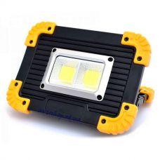Прожектор светодиодный BL812-20W-2COB+1W, 2x18650/3xAA, ЗУ micro USB, Power Bank
