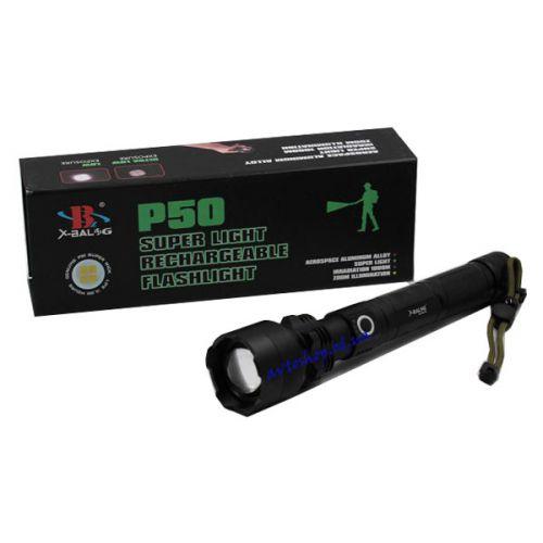 Фонарик BL P510 - P50 2*18650 аккумулятора