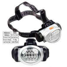 Налобный фонарь пластик 10 диодов 603/ 10