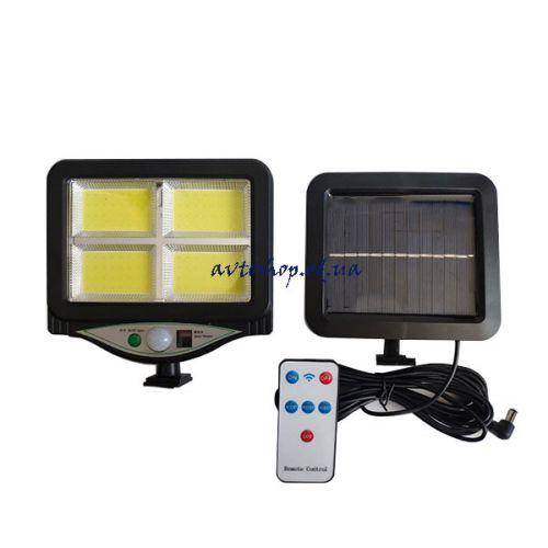 Уличный светильник аккумуляторный с пультом на солнечной батарее BL BK-128-4COB 9892