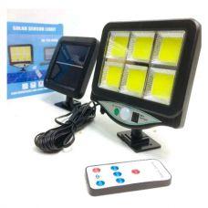 Уличный светильник аккумуляторный с пультом на солнечной батарее BL BK-128-6COB 9891