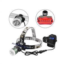 Велосипедный фонарик + на лоб  x-Balog BL-B02 T6