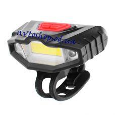 Велосипедный фонарик KK901 COB+2LED красные