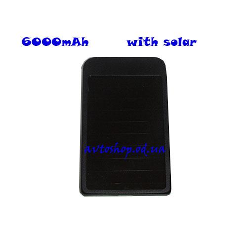 Портативное Зарядное устройство UKC Power Bank + Solar Panel 6000mAh
