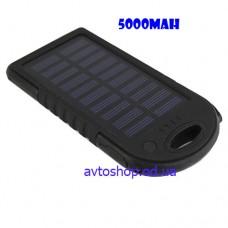 Портативное Зарядное устройство UKC Power Bank + Solar Panel 5000mAh