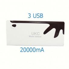 Портативное Зарядное устройство UKC  Power Bank 20000mAh