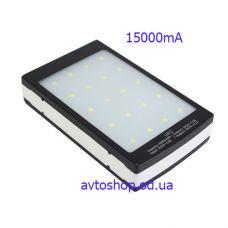 Портативное Зарядное устройство UKC Power Bank + Solar Panel 32000mAh