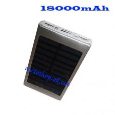 Портативное зарядное устройство Atlanfa 2019 Power Bank + Solar Panel 18000mAh