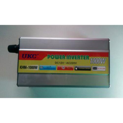 Преобразователь напряжения ( Инвертор) 12V-220 Вольт KHM 1000 Вт