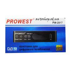Цифровой эфирный DVB T2 приемник Prowest PW-2017