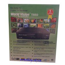 Цифровой эфирный HD DVB-T2 приемник World Vision T55D