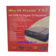 Цифровой эфирный HD DVB-T2 приемник World Vision T57