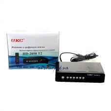 Цифровой эфирный DVB T2 приемник 2058 Metal с поддержкой wi-fi адаптера