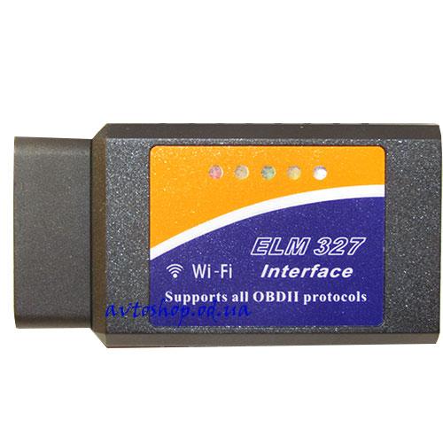 Диагностический сканер-адаптер OBD2 ELM327  Wi-Fi