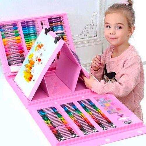 Набор для рисования в чемодане с мольбертом 208 предметов