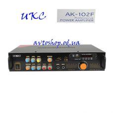 Усилитель звука UKC AMP AK-102F + Караоке на 2 микрофона