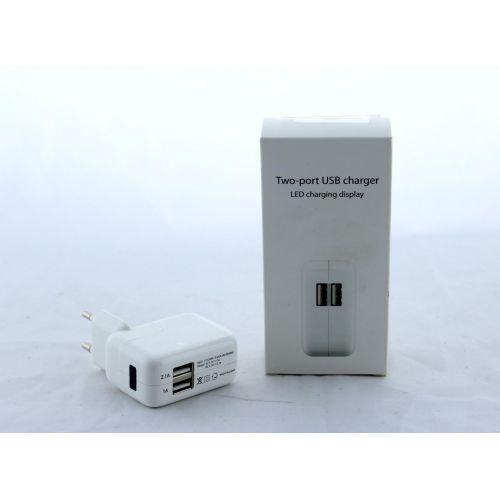 Адаптер зарядка iPad 220V на 2 USB For IP 2USB