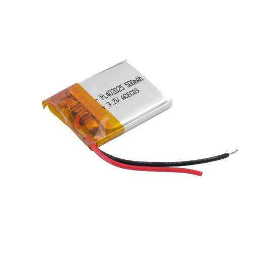 Аккумулятор литий-полимерный 402025,500mAh,3.7V