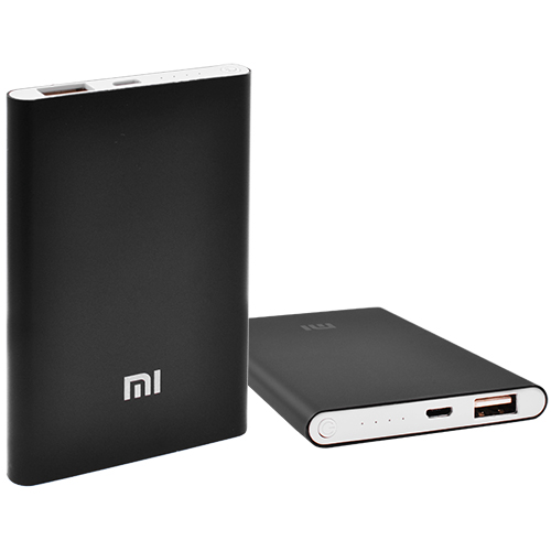 Power Bank MI Slim 5000mAh USB(2A), инд.зар. -100 (2500mAh)