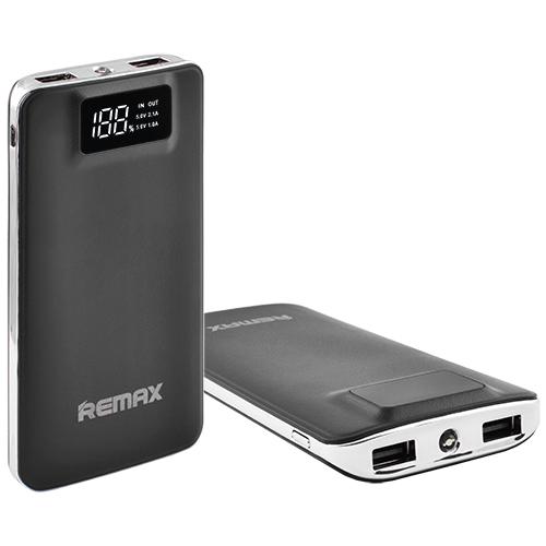 Power Bank REMAX 20000mAh 2USB(1A+2A), цифровой дисплей с подсветкой, фонарик 1LED -134 (5000mAh)