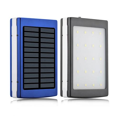 Power Bank SAMSUNG 10000mAh 2USB(1A+2A) с солнечной батареей, индикатор заряда, 20SMD, UV -143 (5000mAh)