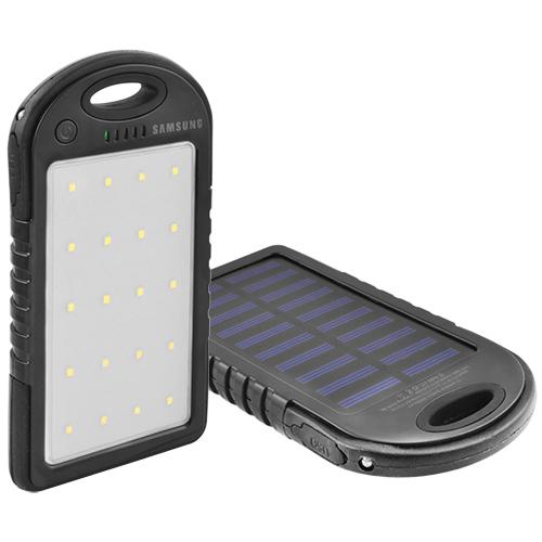Power Bank SAMSUNG 8000mAh USB(1A) с солнечной батареей, индикатор заряда, фонарик 20SMD, ультрафиолет -131 (3000mAh)