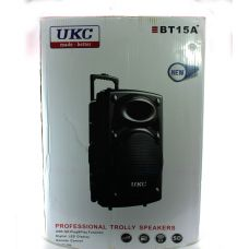 Портативная колонка UKC BT15A + 2 беспроводных микрофона в комплекте / входы для USB и SD-карт / Bluetooth / 12v220v