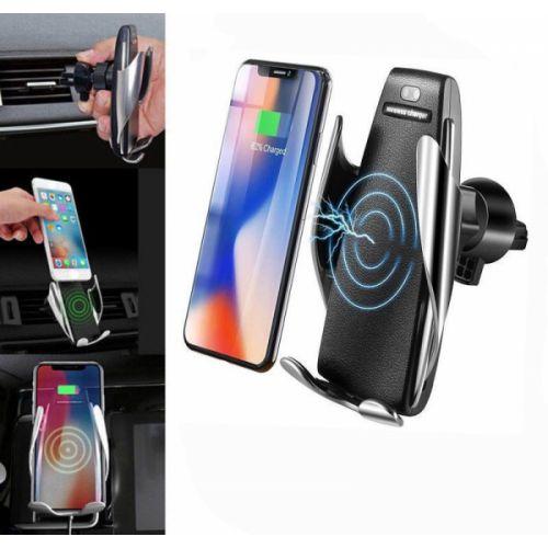 Автомобильный сенсорный держатель для телефона с беспроводной зарядкой S5