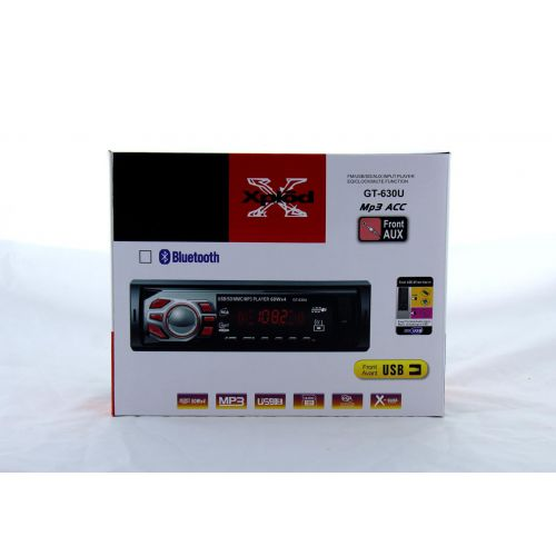 Автомагнитола GT-630U ISO + MP3 / Usb /Sd / Fm / Aux / пульт (4x50W)
