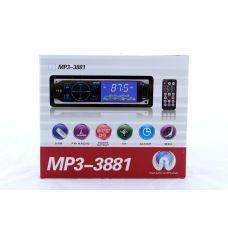 Автомагнитола MP3 3881 с сенсорными кнопками, FM MP3 USB micriSD (TF) AUX ISO