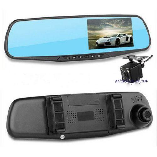 Автомобильный видеорегистратор-зеркало DVR L900 с двумя камерами, 4.3''