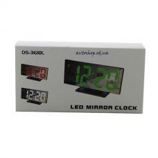 Часы сетевые 3618 зеленые