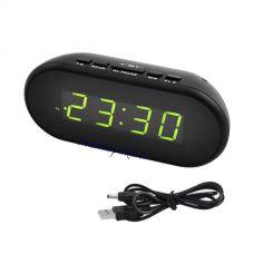 Часы сетевые VST 712-2 зеленые