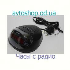 Часы сетевые CR318P с радиоприемником